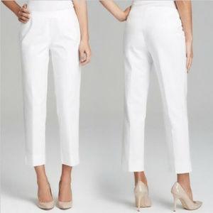 LAFAYETTE 148 NY || White Cropped Bleecker Pants
